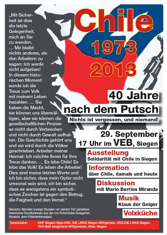 Plakat: Chile 1973